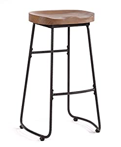 Ou0026K Furniture 30-Inch Counter Height Stool Chairs Industrial Solid Wood and Metal Bar stools Walnut  sc 1 st  Amazon.com & Amazon.com: Ou0026K Furniture 30-Inch Counter Height Stool Chairs ... islam-shia.org