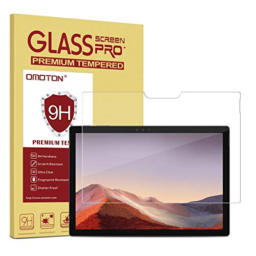 OMOTON Screen Protector Compatible with Surface Pro 7 / Surface Pro 6 / Surface Pro (5th Gen) / Surface Pro 4 [12.3 Inch] - [Tempered Glass] [High Responsivity] [Scratch Resistant] [High Definition] (Best Microsoft Surface Pro Accessories)