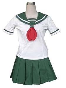 CTMWEB InuYasha Cosplay Costume - Higurashi Kagome Summer Uniform Kids Large