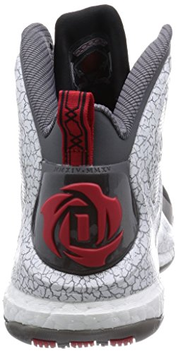 Adidas Performance Mens D Rose 5 Boost Chaussure De Basket Noir / Gris / Blanc