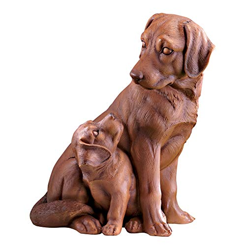 Collections Etc Father and Son Labrador Retrievers Garden Statue - Outdoor Decorative Realistic Statue for Yard, Garden, or Any Room in Home