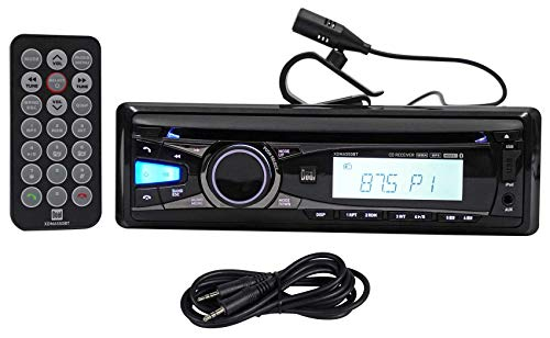 Dual XDMA550BT in-Dash Car Bluetooth CD Receiver MP3/USB/iPhone+Remote+AUX Cable (Renewed) ()