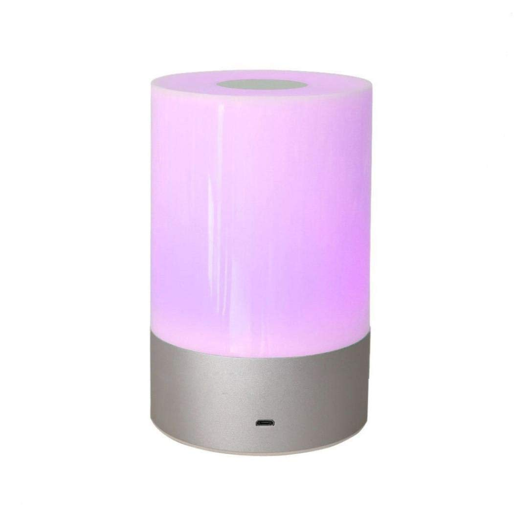 LED Bluetooth Speaker Touch Sensor, Blueseao Lamp Dimmable Warm Light 4 Colors Changing RGB Night Light DIY Alarm Clock FM Hands-Free Timing Function Perfect for Men Women Kids Sleeping Aid