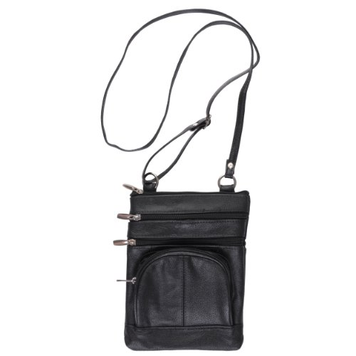Hailey Jeans Co Womens Genuine Leather Multi-pocket Crossbody Bag, Bags Central