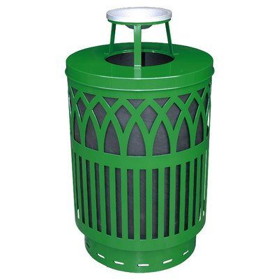 [Covington Collection 40 Gallon Decorative Trash Receptacle with Ash Top Lid Color: Green] (Covington Collection)