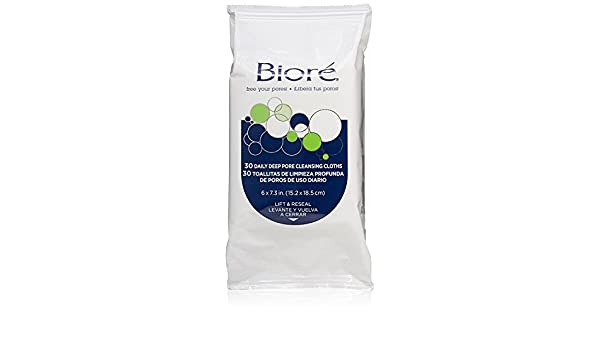 Amazon.com: .Bioré Daily Deep Pore Cleansing Cloths, 60 Count (2-Pack (60 Count)): Beauty