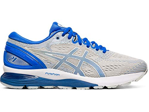 ASICS Men's Gel-Nimbus 21 Lite-Show Running Shoes, 7M, MID Grey/Illusion Blue