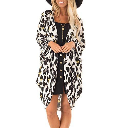 (Women Fashion Leopard Print Coat Tops Suit Bikini Swimwear Beach Swimsuit Smock)