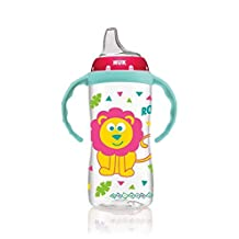 Nuk Learner Sippy Cup Girl 10oz with Handles Monkey Lion Design+ Extra Spout