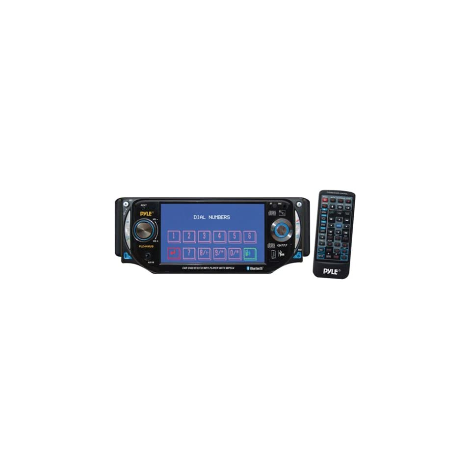 PYLE PLD44MUBT 4.3 Inch TFT Touch Screen DVD/VCD/CD//CD R/USB/ AM/FM/Bluetooth and Screen Dial Pad