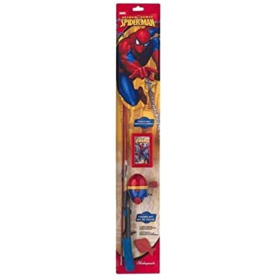 """Shakespeare Spider-Man Fishing Kit with 2'6"""" All-In-One Casting Kit"""