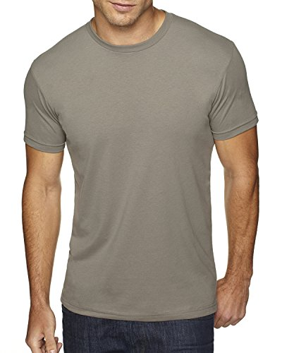 Next Level Men's Premium Fitted Sueded Crew, Warm Gray, - Premium New In Outlets Jersey