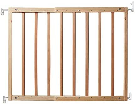 """Primetime Petz 33719 Safety Mate Expandable Pet and Baby Gate, Sturdy Wall Mountable Safety Gate for Hallways, Stairs, or Outdoor Use, Fits Openings from 24.5"""" to 41"""", Natural"""