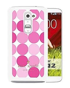 New Fashion Custom Designed Kate Spade Cover Case For LG G2 White Phone Case 257