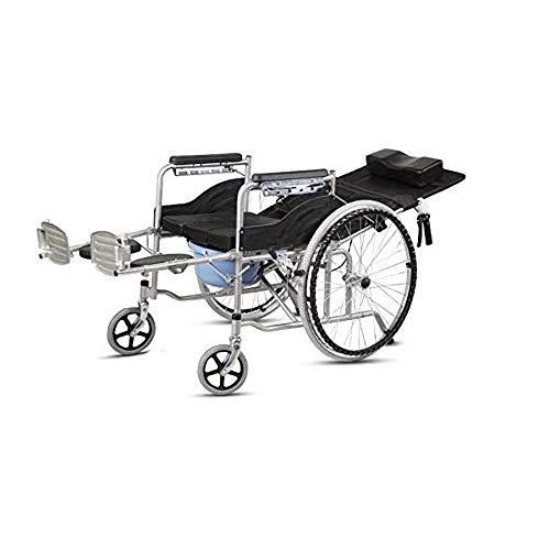 ZLSANVD Pequena Silla de Ruedas con Respaldo Alto for Uso domestico, de Malla extraible Almohada, idoneo for Ancianos, discapacitados, Mujeres Embarazadas Silla de Ducha