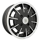 PREMIUM GASSER WHEEL, Black With Polished Lip, 5.5'' Wide, 5 on 112mm