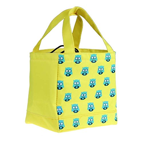 Vovotrade(TM)Lunch Box Thermal Insulated Tote Bento Pouch (Yellow)