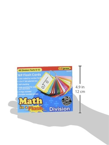 Edupress Math in a Flash Cards, Division (EP62433)