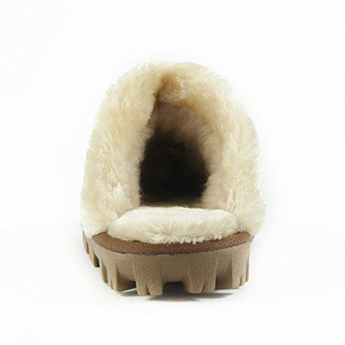 CLPP'LI Women's Slip-on Faux Fur Slippers