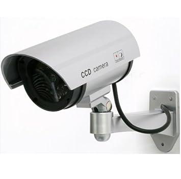 Cámara de vigilancia falsa Fake Dummy Security Camera luz LED infrarrojos: Amazon.es: Electrónica
