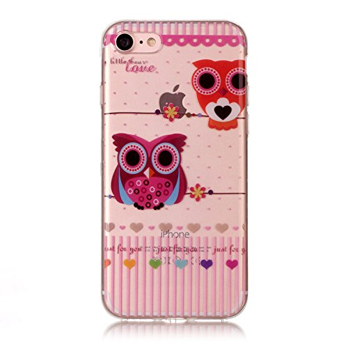 """Hülle iPhone 7 / iPhone 8 , LH Eule TPU Weich Muschel Tasche Schutzhülle Silikon Handyhülle Schale Cover Case Gehäuse für Apple iPhone 7 / iPhone 84.7"""""""