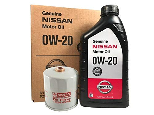 Genuine Nissan 0W-20 Oil Change Kit 15208-65F0E (Best Synthetic Oil For Nissan Altima)