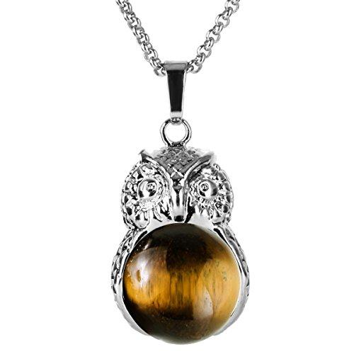 Tiger Eye Gemstone Necklace - 5