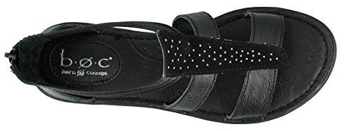 Toe Strap C Open Black T Kenza B Casual Leather O Sandals Womens wOq6zxZn