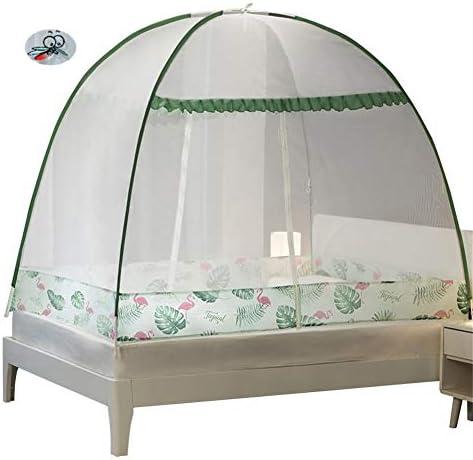 蚊帳モスキートは、屋内または屋外のフィットベビーベッドラウンドフープダブルレースのプリンセスルームテントシングルダブルキングサイズベッドキャノピーベッド、ネットベッド,グリーン,1.8m
