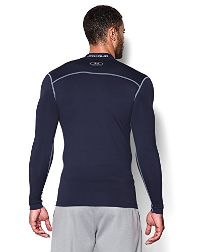 Under Armour Men's ColdGear Armour Compression Mock Long Sleeve Shirt, Midnight Navy (410)/Steel, XXX-Large by Under Armour (Image #1)