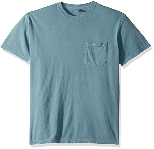 Comfort Colors Men's Adult Short Sleeve Pocket Tee, Style 6030, Ice Blue, 2X-Large