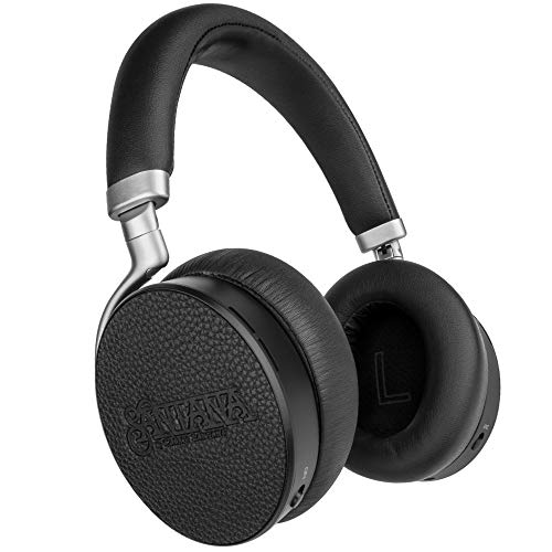 Noche by Carlos Santana Active Noise Cancelling Bluetooth Headphones, Leather and Aluminum ANC Headphones with Plush Protein Earpads, 24H Playtime for Travel