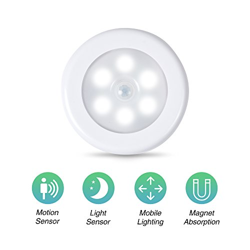 Century Motion Sensor Battery Powered LED Light for Entrance, Hallway, Garage and Bathroom (3 Pack), White (Off-White) by Century (Image #1)