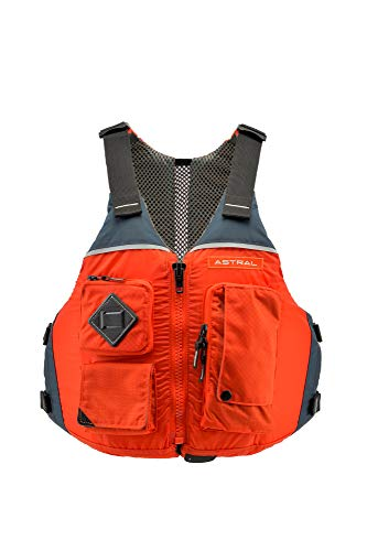 Astral Ronny Life Jacket PFD for Recreation, Fishing, and Touring Kayaking, Burnt Orange, S/M