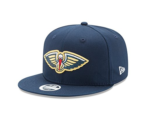 NBA New Orleans Pelicans Women's Team Glisten Snap 9FIFTY Cap, One Size, Blue