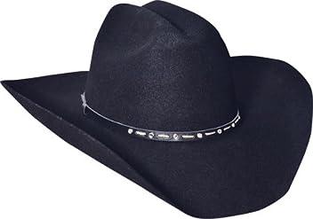 e3c2e567ffc80 Silverado Hats BLACK GEM 2X Wool Low Cattleman Crown Western Cowboy Hat
