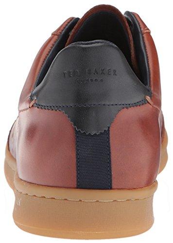 Sneaker Ted Baker Mens Orlee In Pelle Marrone Chiaro