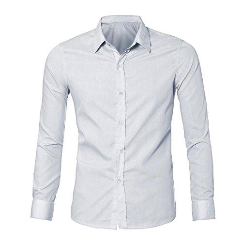 YpingLonk Camiseta Hombre Color Sólido Delgado Luxurious Manga ...