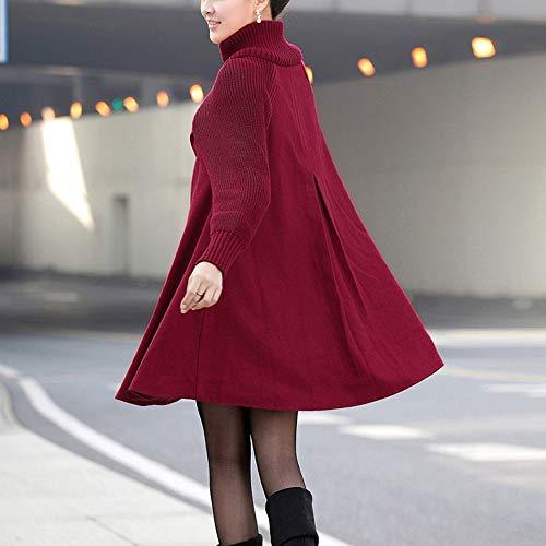 manteau De manteau Rouge Manteau manteau En Femmes Laine Magiyard Femme Coton Des wZA0q4W