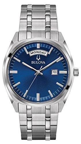 bulova mens watch blue dial - 8