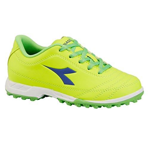 Diadora - Zapatillas de Material Sintético para niño C6212 GIALLO/VERDE
