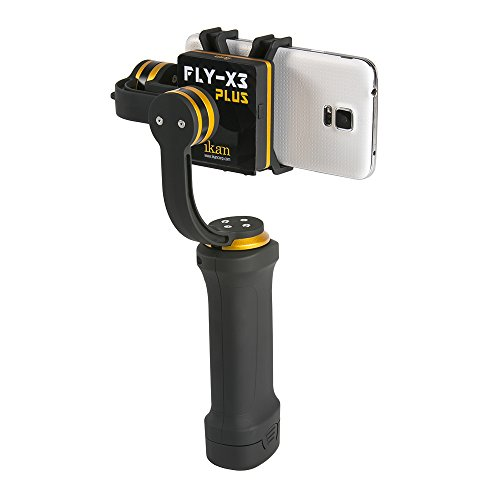 Ikan FLY-X3-PLUS-KIT 3-Axis Smartphone Gimbal Stabilizer, Extra Battery, Black