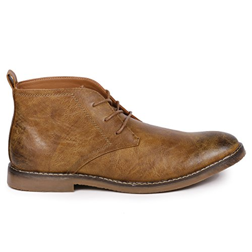 Image of Metrocharm MC120 Men's Lace up Casual Fashion Ankle Chukka Boots