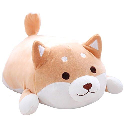 Corgi Dog Plush Toys Creative Corgi Dog Butt Shaped Plush Soft Pillows 36cm (Brown)