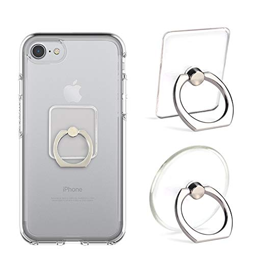 - Cell Phone Ring Holder Stand Transparent 5 Pack Finger Grip Loop Mount 360 Degree Rotation Universal Smartphone Kickstand Compatible with iPhone X 8 7 7Plus iPad Samsung Galaxy S7 S8 LG Google