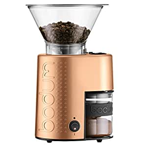 Bodum BISTRO Burr Grinder, Electronic Coffee Grinder with Continuously Adjustable Grind, Copper