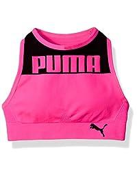 PUMA Girls Girls' Seamless Logo Halter Sports Bra Sports Bra
