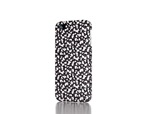 Apple iPhone 5 / 5S Case - The Best 3D Full Wrap iPhone Case - Black and white heart