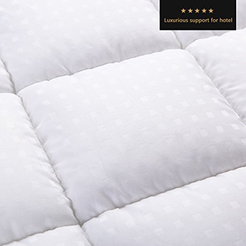 Balichun mattress pads pillowtop down alternative queen for Best down mattress pad