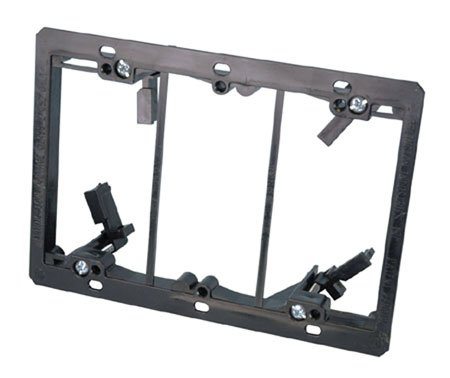 Three Gang Low Voltage Old Work Wall Mount Bracket-2pack by Arlington Industries